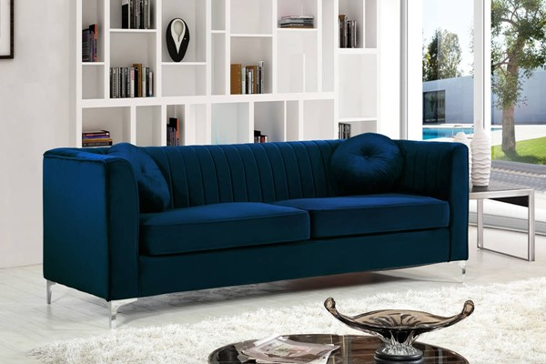 Meridian Furniture Isabelle Navy Sofa MRD-612NAVY-S