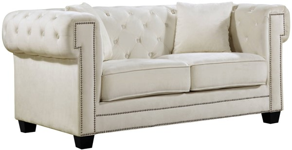 Design Edge Mallanganee  Cream Velvet Loveseat DE-21990284