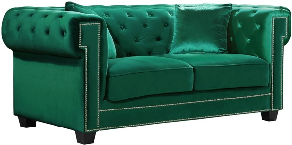 Design Edge Mallanganee  Green Velvet Loveseat DE-21990314