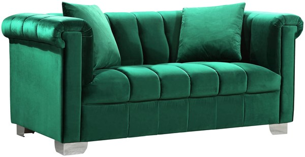 Design Edge Tuncurry  Green Velvet Loveseat DE-21990523