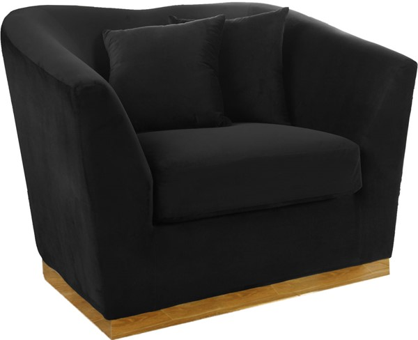 Design Edge Kimovale  Black Velvet Chair DE-22609967