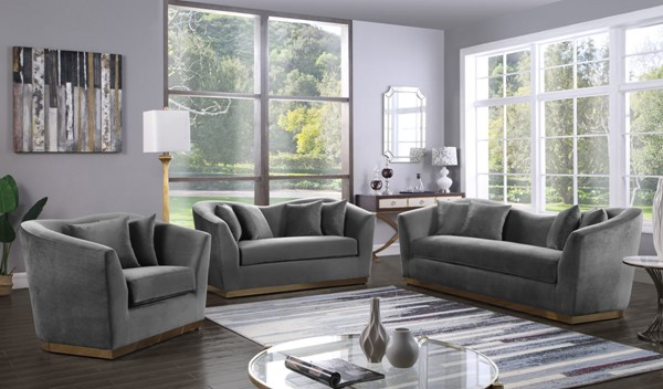 Design Edge Kimovale  Grey 3pc Living Room Set DE-22610097