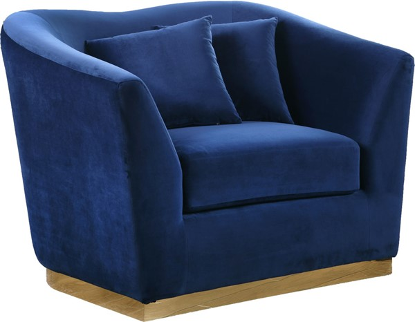 Design Edge Kimovale  Navy Velvet Chair DE-22609987
