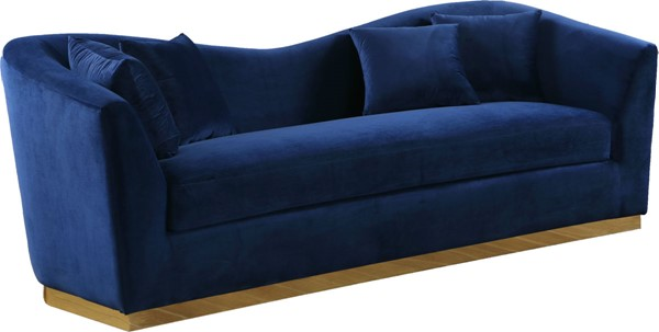 Meridian Furniture Arabella Navy Velvet Sofa MRD-617Navy-S