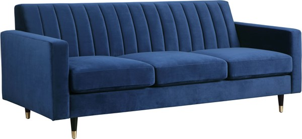 Meridian Furniture Lola Navy Velvet Sofa MRD-619Navy-S