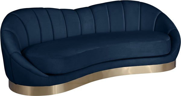 Meridian Furniture Shelly Navy Velvet Sofa MRD-623Navy-S