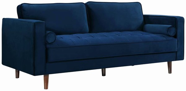 Design Edge Orange  Navy Velvet Sofa DE-22248611