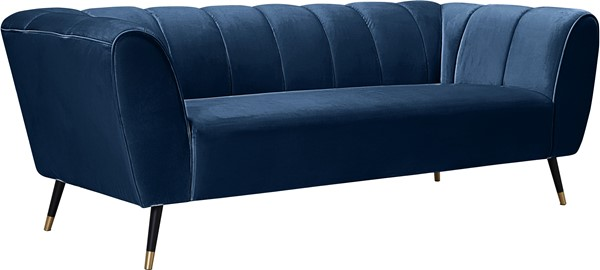 Meridian Furniture Beaumont Navy Velvet Sofa MRD-626Navy-S