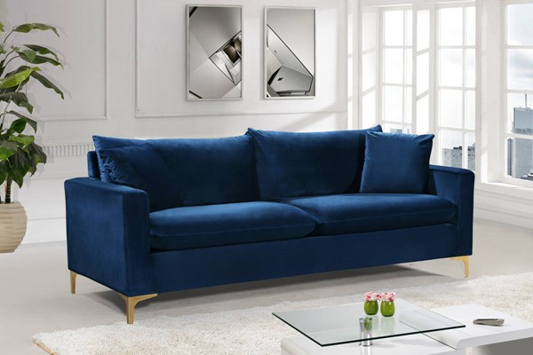 Meridian Furniture Naomi Navy Velvet Sofa MRD-633Navy-S