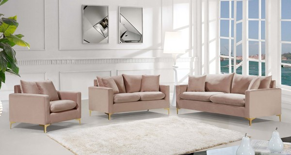 Design Edge Aramac  Pink 3pc Living Room Set DE-22780464