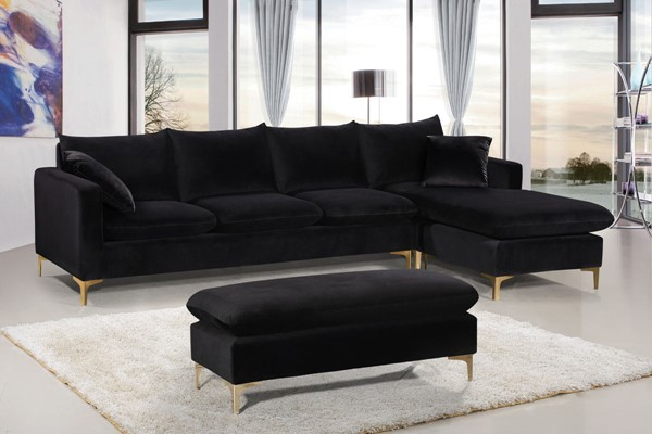Design Edge Aramac  Velvet 3pc Sectional DE-22610884