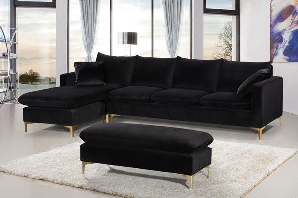 Meridian Furniture Naomi 4pc Sectionals with Ottoman MRD-636-Sectional-S-VAR