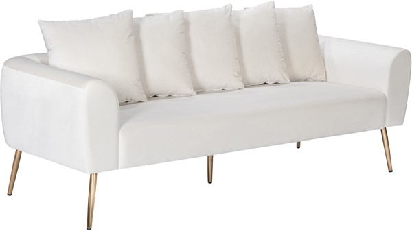 Meridian Furniture Quinn Cream Velvet Sofa MRD-639Cream-S