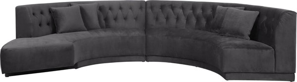 Design Edge Ulladulla  Grey Velvet 2pc Sectionals DE-23272146