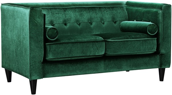 Design Edge Goombungee  Green Velvet Loveseat DE-21991981