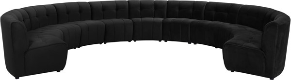 Meridian Furniture Limitless Black 11pc Modular Sectionals MRD-645-SEC-11PC-VAR