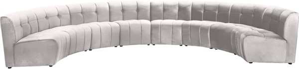 Meridian Furniture Limitless Cream Velvet 8pc Modular Sectional MRD-645Cream-8PC
