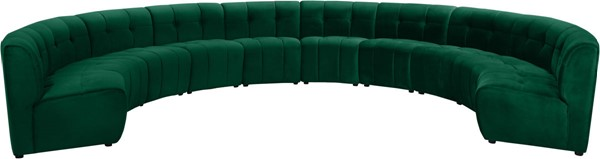 Meridian Furniture Limitless Green Velvet 10pc Modular Sectional MRD-645Green-10PC