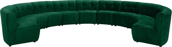 Meridian Furniture Limitless Green Velvet 11pc Modular Sectional MRD-645Green-11PC