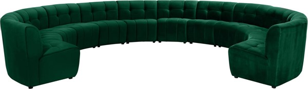 Meridian Furniture Limitless Green Velvet 12pc Modular Sectional MRD-645Green-12PC
