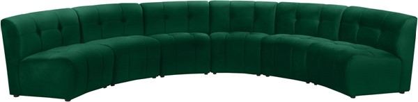 Meridian Furniture Limitless Green Velvet 6pc Modular Sectional MRD-645Green-6PC
