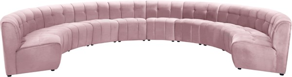 Meridian Furniture Limitless Pink Velvet 10pc Modular Sectional MRD-645Pink-10PC