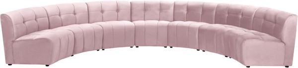 Meridian Furniture Limitless Pink Velvet 7pc Modular Sectional MRD-645Pink-7PC