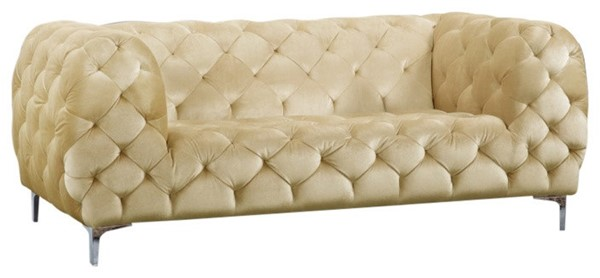 Meridian Furniture Mercer Beige Velvet Loveseat MRD-646BE-L