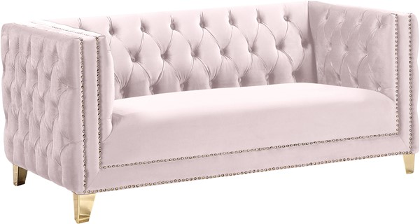 Meridian Furniture Michelle Pink Velvet Loveseat MRD-652Pink-L