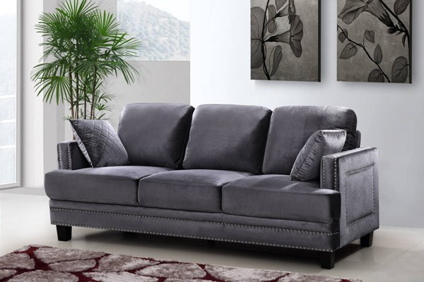 Meridian Furniture Ferrara Grey Navy Sofas MRD-655-LR-FEB-SF-VAR