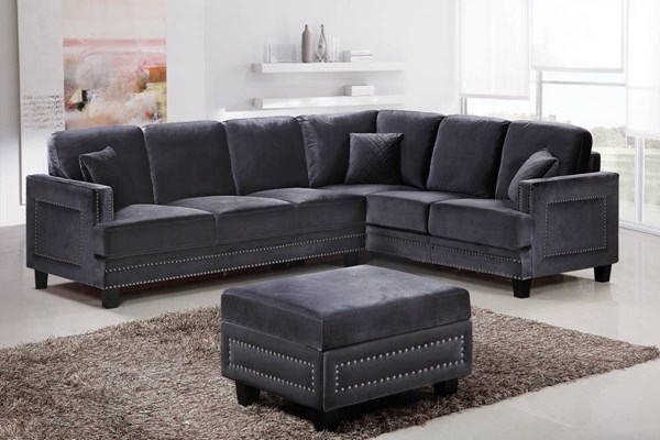 Meridian Furniture Ferrara 2pc Sectionals with Ottomans MRD-655-FEB-SEC-OT-VAR