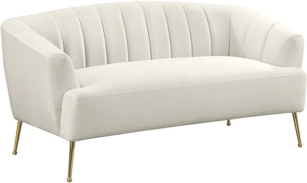 Meridian Furniture Tori Cream Loveseat MRD-657Cream-L