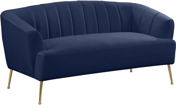 Meridian Furniture Tori Navy Loveseat MRD-657Navy-L