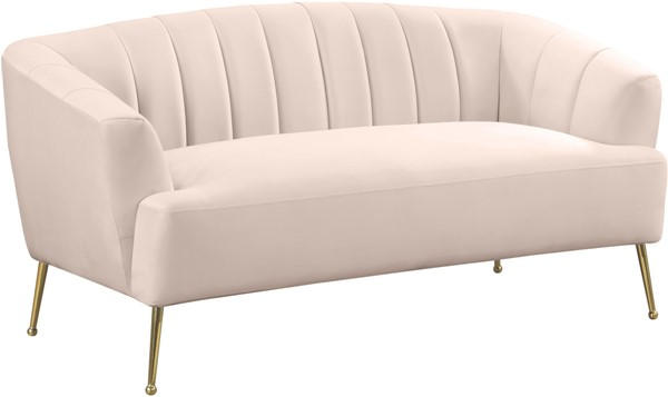 Meridian Furniture Tori Pink Loveseat MRD-657Pink-L