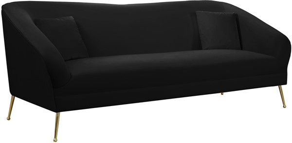 Meridian Furniture Hermosa Black Velvet Sofa MRD-658Black-S