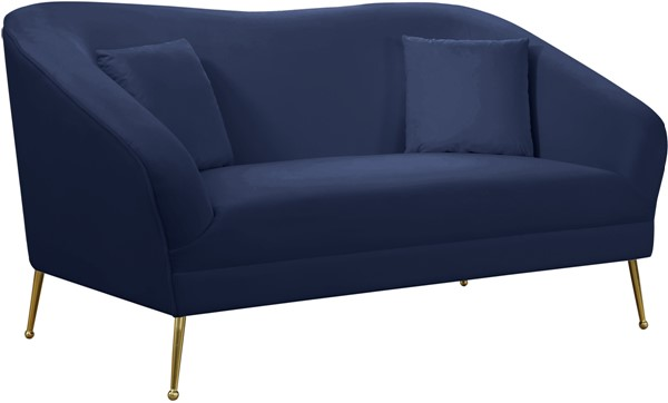 Meridian Furniture Hermosa Navy Velvet Loveseat MRD-658Navy-L