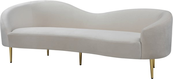 Meridian Furniture Ritz Cream Velvet Sofas MRD-659-SF-VAR