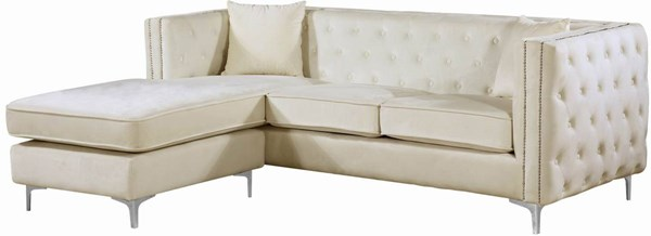 Meridian Furniture Jesse Cream 2pc Sectional MRD-668Cream-Sectional