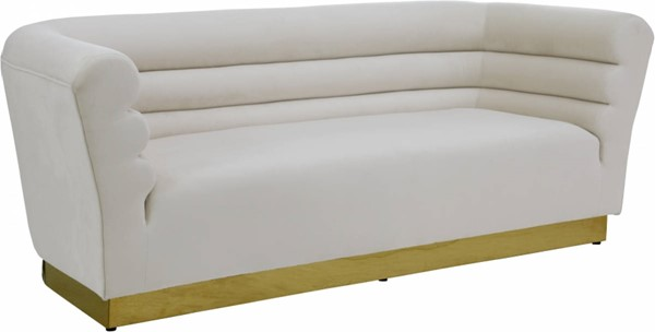 Design Edge Lapstone  Cream Velvet Sofa DE-23463787