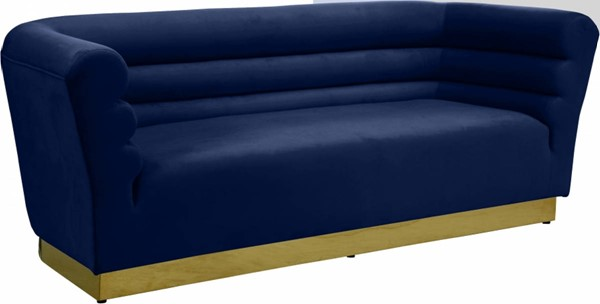 Meridian Furniture Bellini Navy Velvet Sofa MRD-669Navy-S