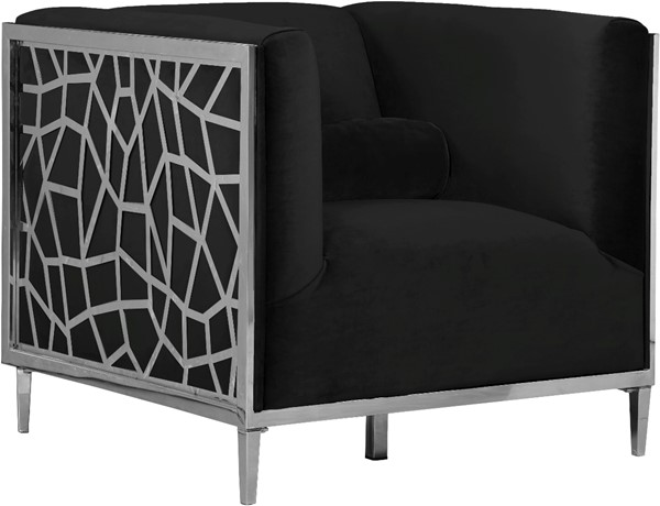 Design Edge Bedourie  Black Velvet Chair DE-22780580