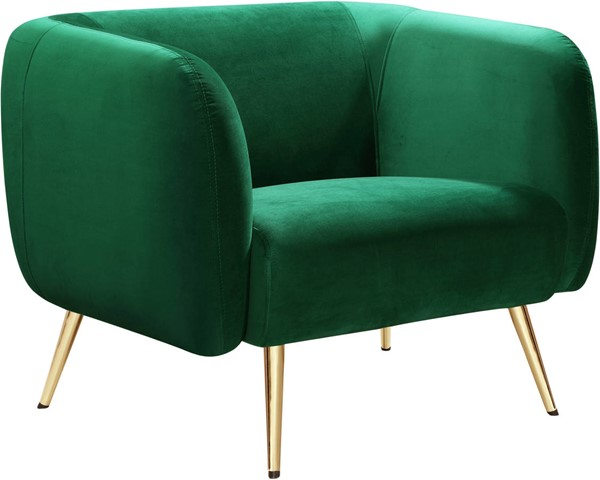 Meridian Furniture Harlow Green Velvet Chair MRD-685Green-C