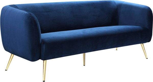 Meridian Furniture Harlow Navy Velvet Sofa MRD-685Navy-S