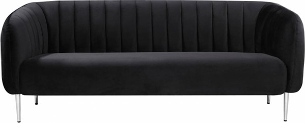 Meridian Furniture Willow Black Velvet Sofas MRD-687-SF-VAR
