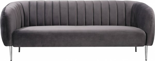 Design Edge Ingham  Grey Velvet Sofa DE-23272828