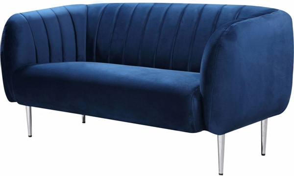 Meridian Furniture Willow Navy Velvet Loveseat MRD-687Navy-L