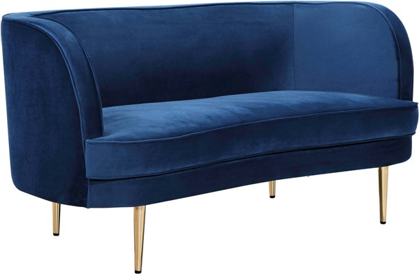 Meridian Furniture Vivian Navy Velvet Loveseat MRD-694Navy-L
