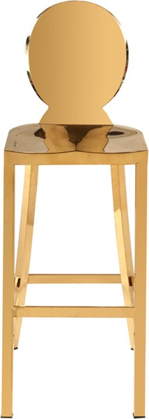 Meridian Furniture Maddox Gold Stainless Steel Stool MRD-706