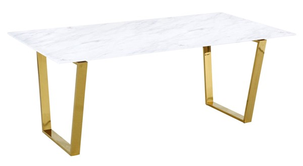Meridian Furniture Cameron Gold Dining Table MRD-712-T