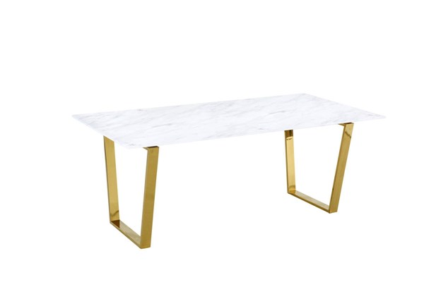 Design Edge Manilla  Gold Dining Table DE-21995072
